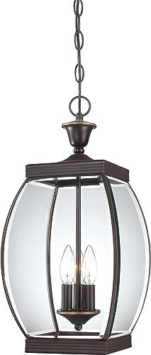 Quoizel OAS1909Z Oasis Outdoor Pendant Lantern Ceiling Lighting, 3-Light, 180 Watts, Medici Bronze 21 H x 9 W
