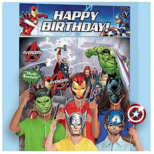 5 Piece Avengers Epic Superhero Birthday Party Scene Setter Decoration Kit
