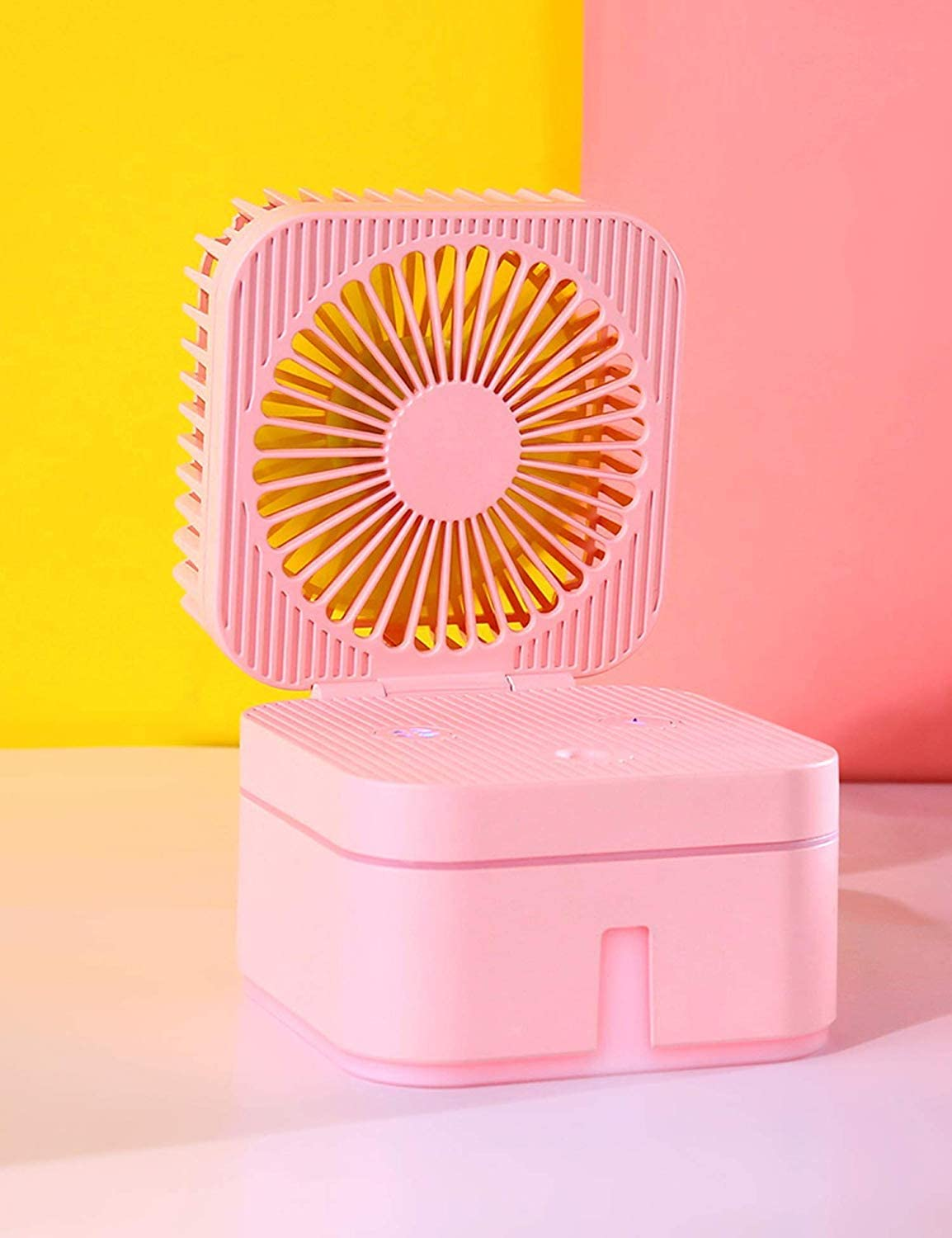 Color : Pink , Size : Free size Mini Portable Fan Operated Clip On Mini Desk Fan USB Powered 120/° Rotation Clip On Fan Quiet For Home Office Bedroom 4 Colors USB Fan for Travel Office