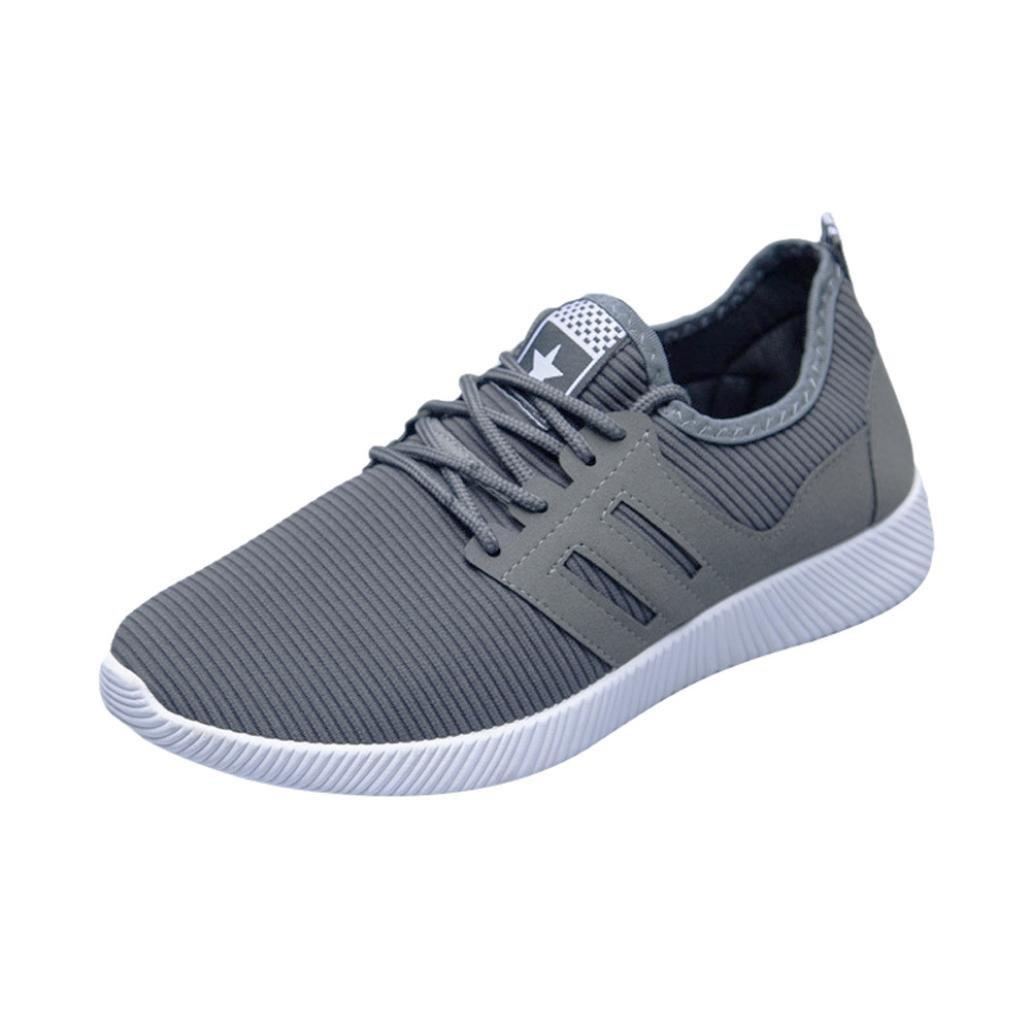 Zapatillas Deportivas Respirable para Hombre, QinMM Zapatos Gym Running con Cordones Transpirables Alpargatas Deportes