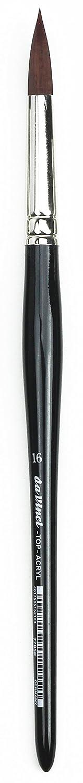 Da Vinci オイル & アクリル トップアクリルペイントブラシ Size 16 7485K-16 B00409MLQS Size 16|フィルバートブラウン ショーツ(Filbert Brown Short)  Size 16