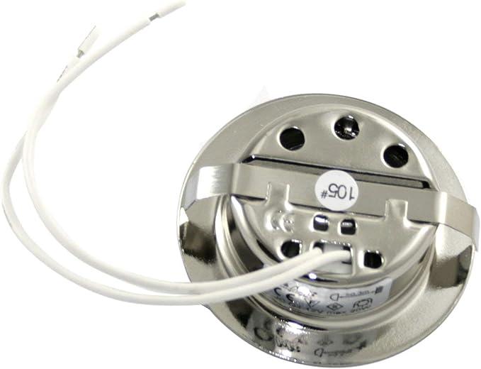 Include 12/V 20/W G4/Lampadina e 15/cm cavo di collegamento Set di lampada alogena a incasso per mobili a intensit/à variabile Cromato lucido