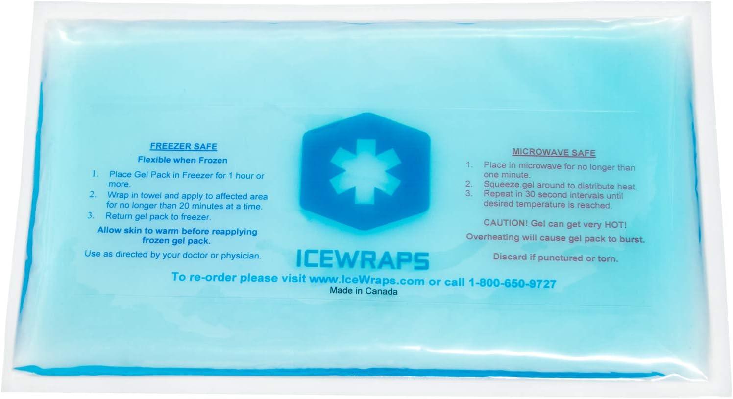 IceWraps Paquete del gel Pack reutilizable para microondas caliente, paquete de hielo Ideal para alivio de dolor primeros auxilios 6 x 10 Azul: Amazon.es: Salud y cuidado personal