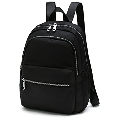 560f93fee761 Amazon.com: Stylish Designer Backpacks for Women Small Waterproof Nylon  School Bookbags (Type 2 Black): Clothing