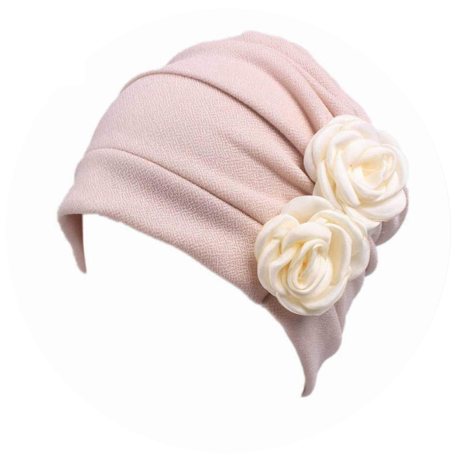 Retro Floral Winter Hats Beanies Women Classic Turban Head Wrap Cap Gorras Mujer Simple Flower Hats, Beige at Amazon Womens Clothing store: