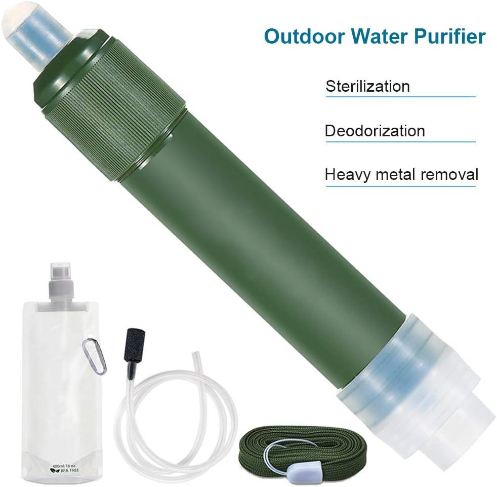 HEITIGN Filtro De Agua Purificador De Paja, Mini Purificador De ...
