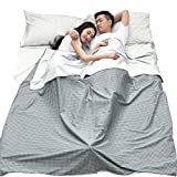 Azarxis Sleeping Bag Liner Sack Sheets Cotton Lightweight Portable Single/Double 2 Two Person Envelope for Travel Hotel Adult Camping Hiking