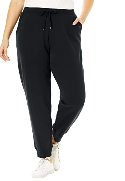exclusive range best authentic pretty and colorful Woman Within Women's Plus Size Petite Better Fleece Jogger Sweatpant