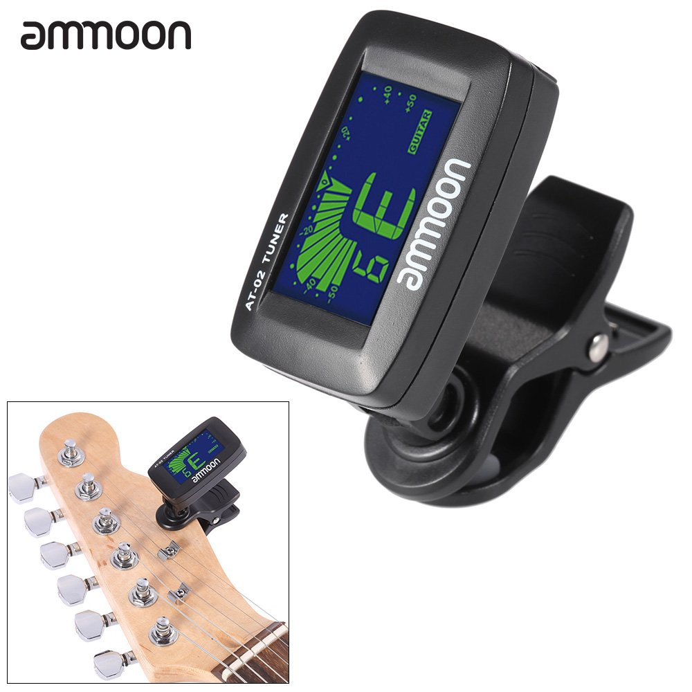 ammoon AT-08 Mini Digital LCD Métronome Accordeur pour Guitare Chromatique Acoustique Basse Violon Ukulele