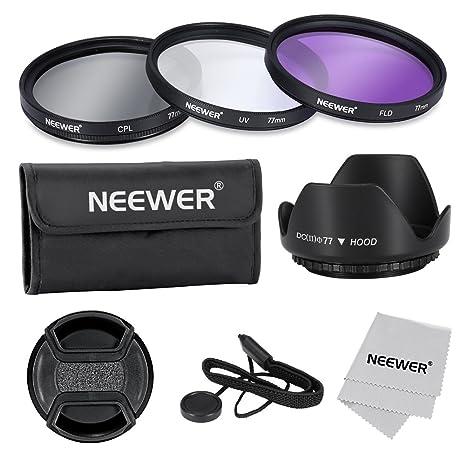 Neewer® 77mm Kit de Lentes Filtros Profesional Para Canon Nikon ...