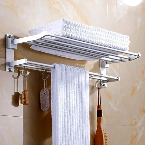 Xihouxian Actividad Plana Toallero de baño Estante de ...