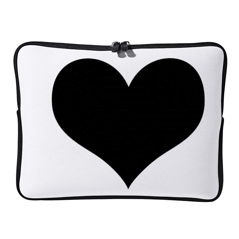 682fd4d64ae9 Amazon.com: White Pillow Black Heart Neoprene Protective Laptop ...