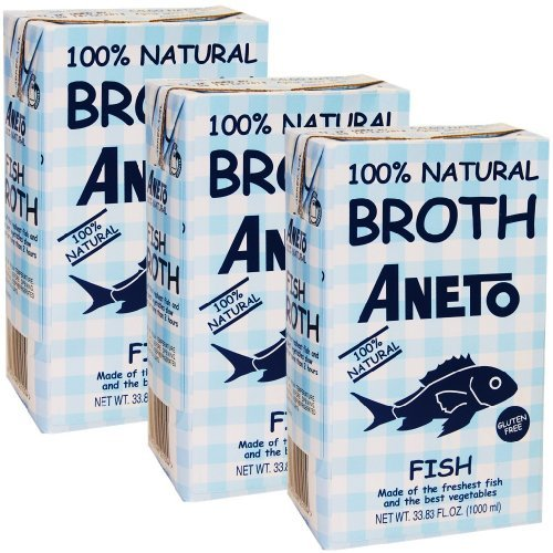Fish Stock by Aneto. Imported from Spain 33.8 oz Pack of 3 (Best Fish Stock Recipe)