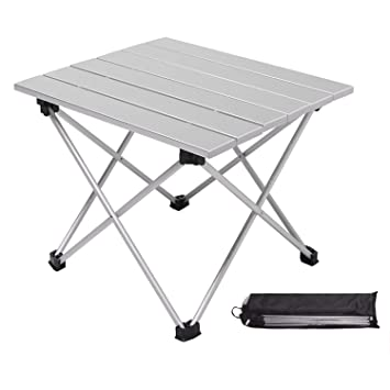 Kanord(40 * 35 * 31cm Mesa de Camping Plegable de Aluminio ...