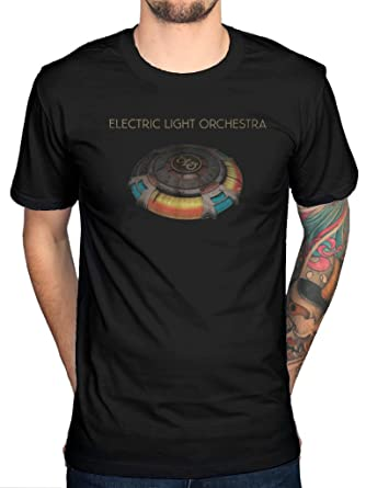 Black Large Elo Cover Tshirt Official Rockoff Trade Men/'s Mbs Album T-shirt