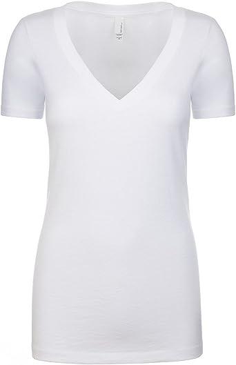Next Level Womens CVC Deep V-Neck Short Sleeve Tee Shirt