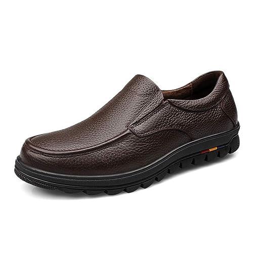 Zapatos de Hombre Vestido de Cuero Blando Mocasines Formales: Amazon.es: Zapatos y complementos