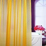 Orange Shower Curtain Wimaha EVA Shower Curtain Liner Mildew Resistant Waterproof Shower Curtain Liner with Shower Curtain Hooks and Metal Grommets, 72W x 72L Orange Peepholes Design