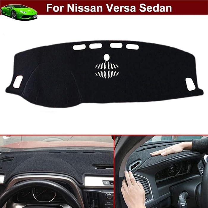New 1pcs Black Non-Slip Dash Mat Dashboard Mat Dash Carpet Dash Covers Dashboard Cover Custom Fit for Nissan Versa Sedan 2011 2012 2013 2014 2015 2016 2017 2018 2019 2020
