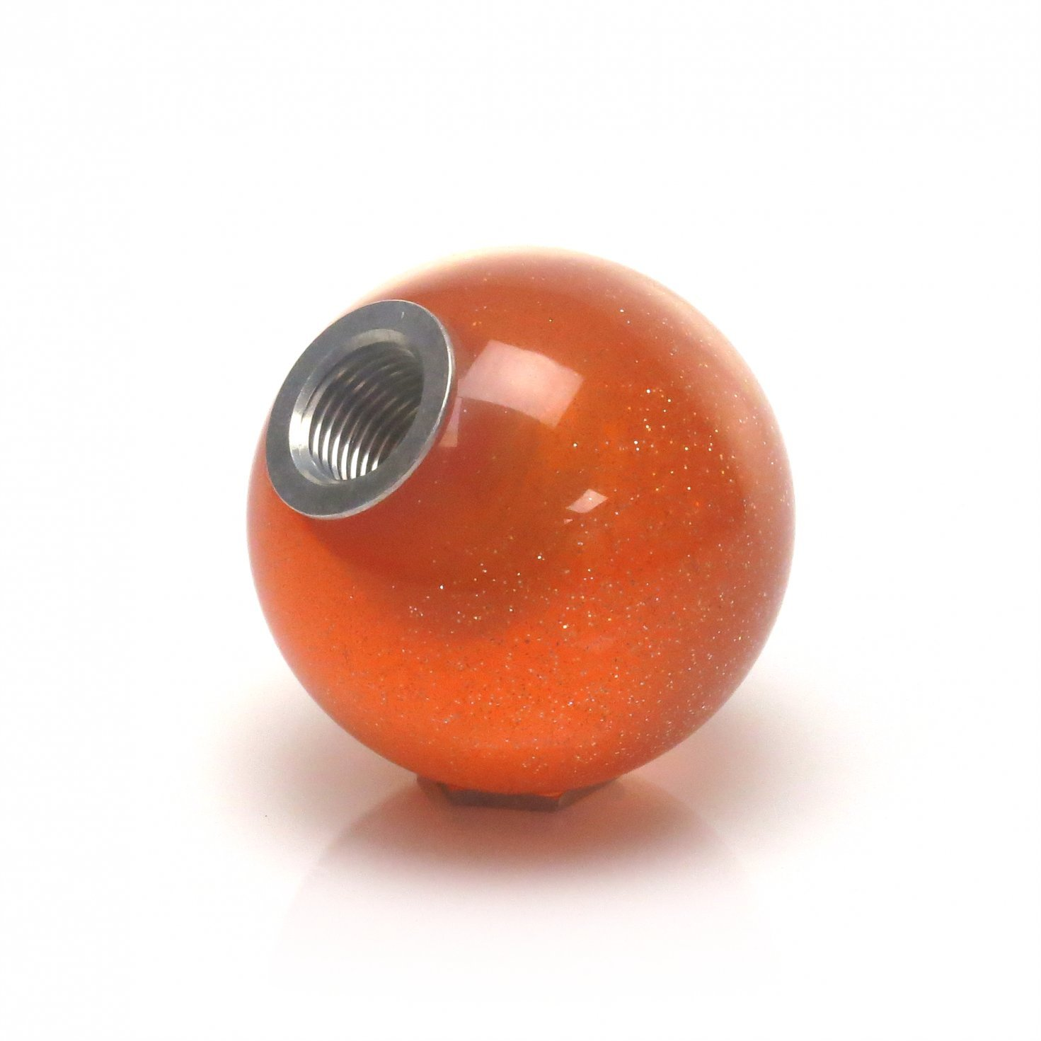 American Shifter 45989 Orange Metal Flake Shift Knob with 16mm x 1.5 Insert Yellow Breast Cancer Awareness