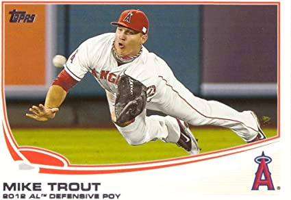 Wins 2012 Rookie of the Year Award 2013 Topps #338 Mike Trout Baseball Card