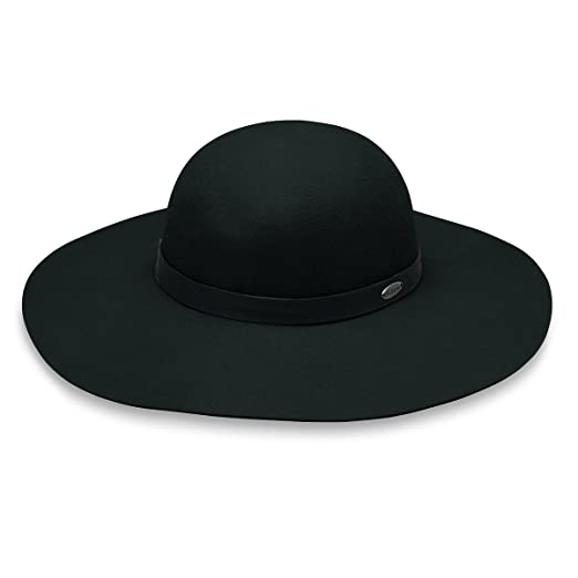 Wallaroo Women s Elsbeth Felt Sun Hat - UPF 50+ - Adjustable Fit (Black) add47d7553ea