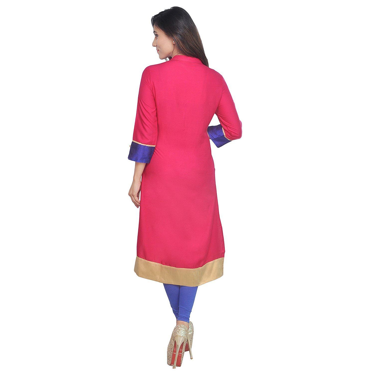 Chi Chi Chichi Women 3/4 Sleeve Tunic Top Embroidered Kurti Blouse by CHI (Image #5)
