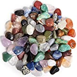 Digging Dolls: 2 lbs Tumbled Natural Brazilian Stone Mix - Over 35 Stone Types - Small - 0.75'' to 1'' Average Size - Perfect for Arts, Crafts, Gifts, Party Favors, Wire Wrapping and More!