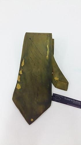 Corbata de seda. Corbata verde. Corbata regalo: Amazon.es: Handmade