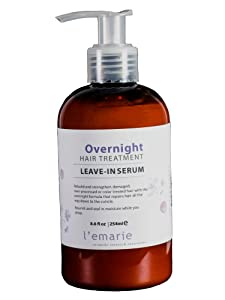 L'emarie Overnight Repair Hair Treatment Leave-in Serum For Damaged, Over-processed & Color Treated Hair 8.6 Ounce