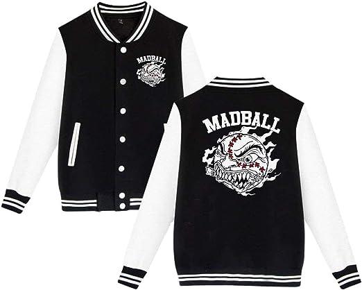 スタジャン ジャケット スウェット マッドボール Madball Hardcore Rock Band Logo スタジアムジャンパー アウター スナップ 長袖 厚手 スポーツ トレーニング ブルゾン 定番 カップル ユニセックス