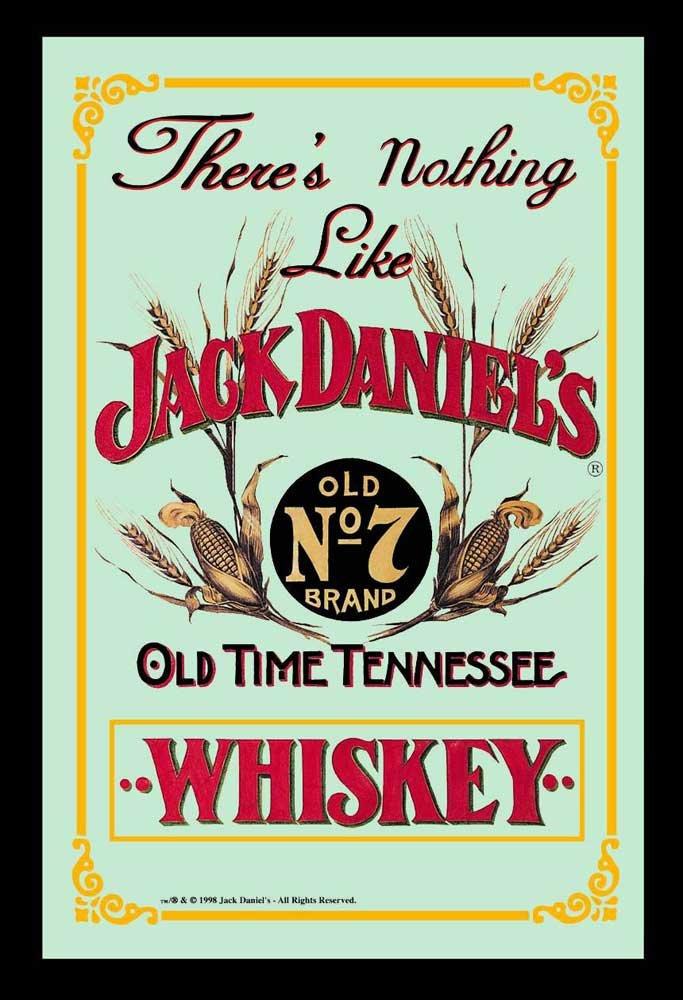 Empire 537676 - Quadro Jack Daniels Whisky Retro 2, su vetro stampato con cornice in plastica effetto legno, 20 x 30 cm Empire Merchandising