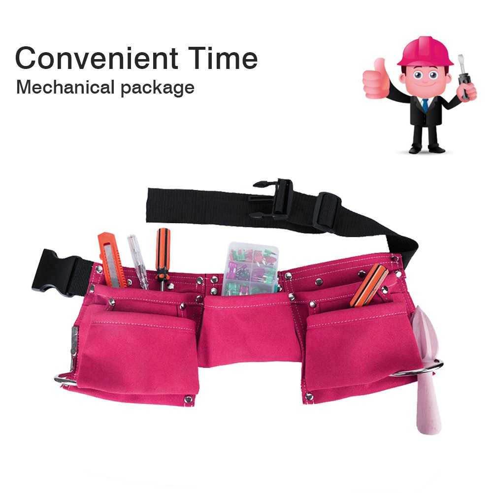 Greatstar Kids Tool Belt, Construction Tool Belt, Child's Tool Apron, Candy Pouch for Youth Dress Up and Costume (Pink) by Greatstar