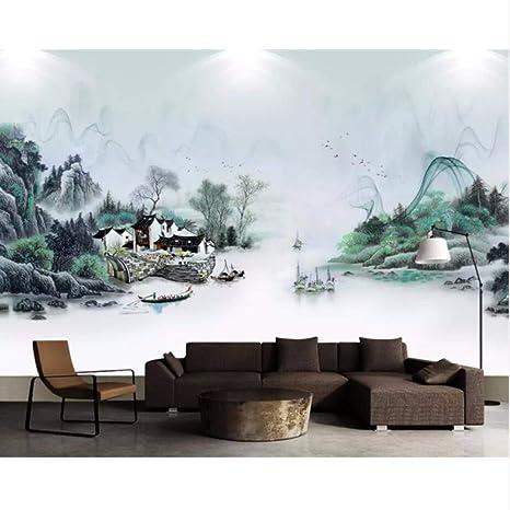 Amazoncom Pbldb Custom Wallpaper Chinese Fishing Village