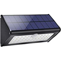 1100lm luces exteriores solares 4500mAh aluminio 120 ° sensor de movimiento infrarrojo impermeable IP65 luz de seguridad…