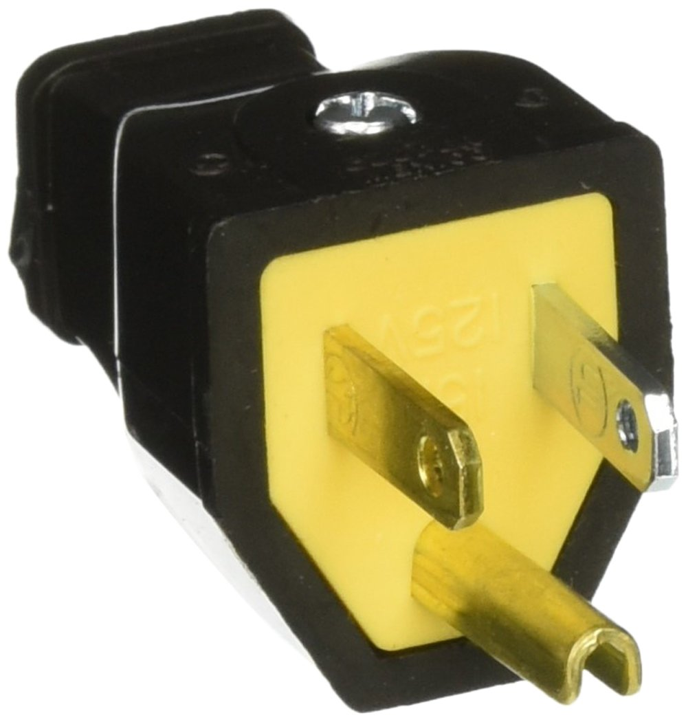 Cooper Wiring Sa399 Grounded Plug Electric Plugs Devices 20amp 125volt Yellow 3wire Grounding
