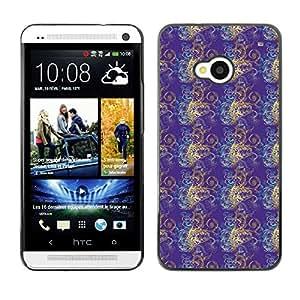 ZECASE Funda Carcasa Tapa Case Cover Para HTC One M7 No.0003056