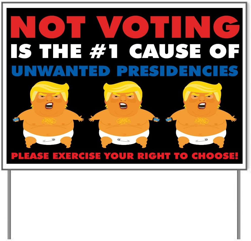 Amazon.com: M&R Unwanted Presidencies 18x24 One Sided Yard Sign: Home &  Kitchen