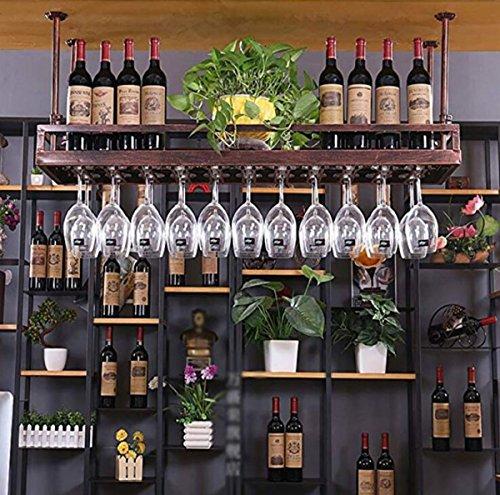 WG Wine Rack, Hanging Goblet Rack, Creative Wine Glass Holder (Brown) -Wine Glass Rack (Size : 6035CM),M ()