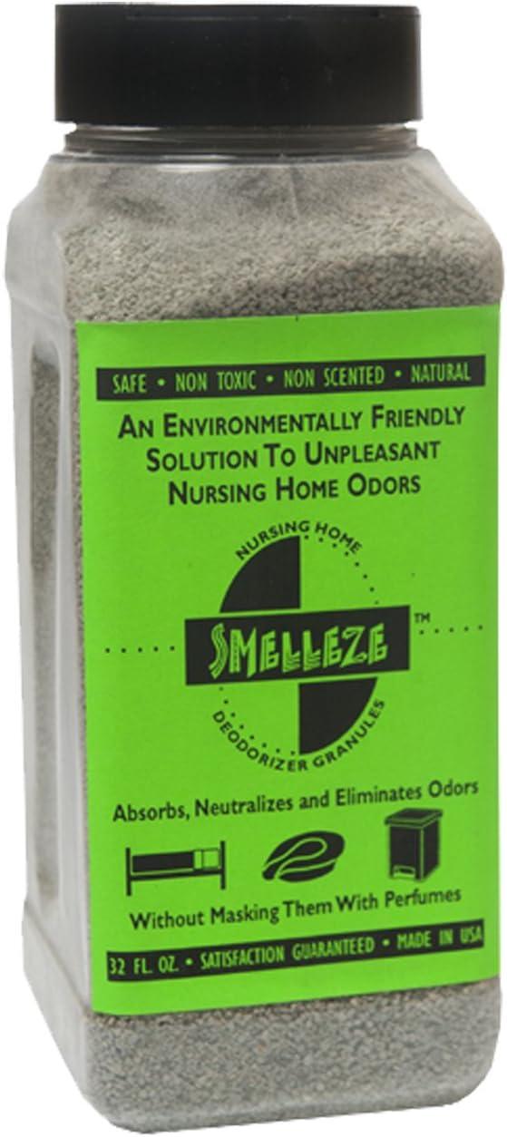 SMELLEZE Natural Elderly Odor Remover Deodorizer: 2 lb. Granules Rid Sick Room Stench