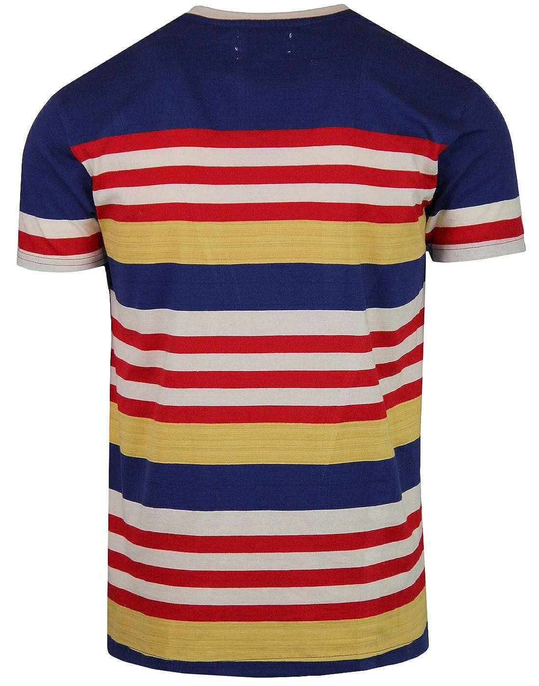 Madcap England - Camiseta - Rayas - Manga Corta - Hombre Azul Azul ...
