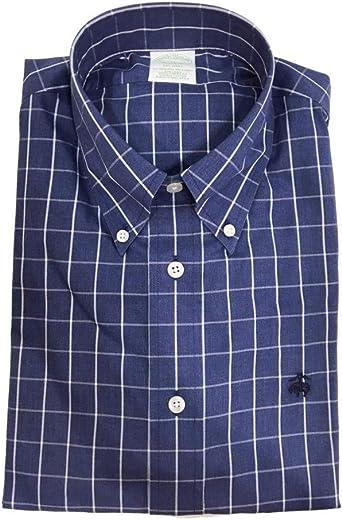 Brooks Brothers - Camisa de fantasía Milano turquesa S: Amazon.es: Ropa y accesorios