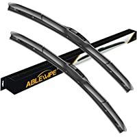 "ABLEWIPE Hybrid Wiper 24"" + 17"" Windshield Wiper Blade With Smart-Flex Technology(Set of 2)"