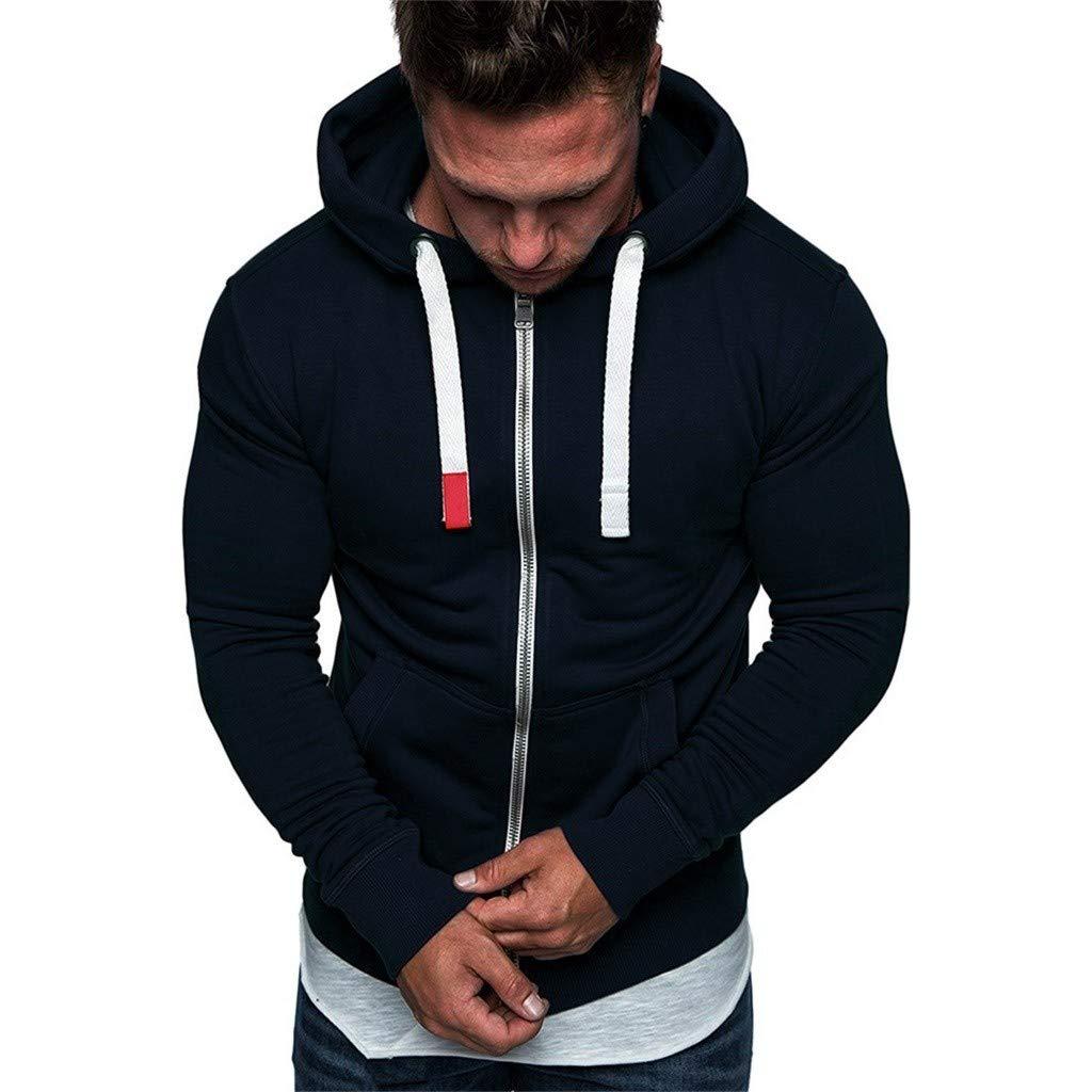 AcisuHu Selling Hoodie Men, Men's Slim Fit Long Sleeve Lightweight Zip up Hoodie Sweatshirt Pullover Tops Long Sleeve