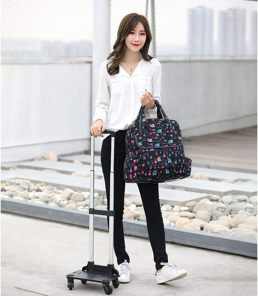 Bag Trolley Painting Tool Cart Color : F Artist Combination Portable Folding Art Cart Multi-Function Waterproof Painting Board Four-Wheel Crystal Wheel Can Climb Stairs