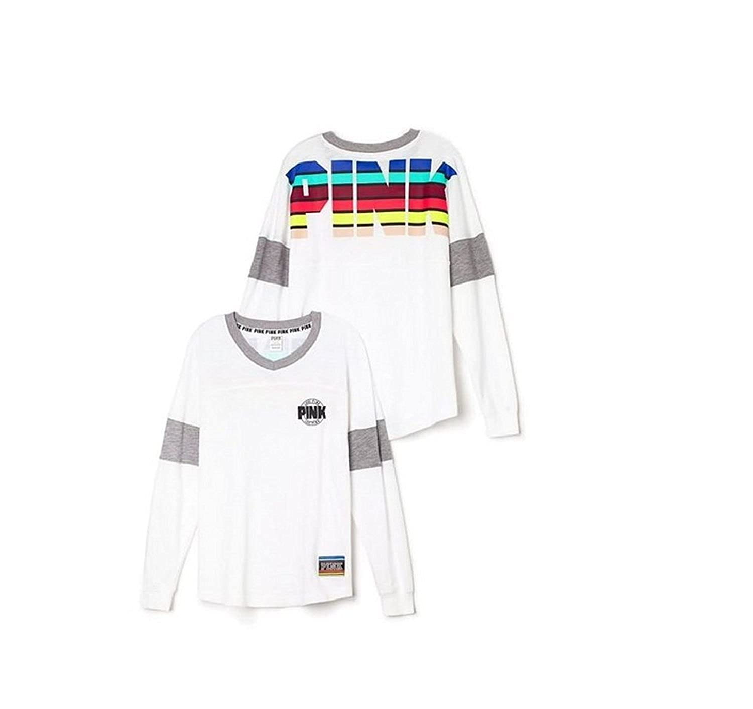 2237ccd935b10 Victoria's Secret PINK Varsity Crew Small White outlet - www ...