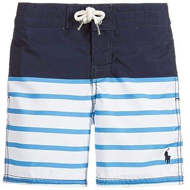 d10fd5404c9f1 Amazon.com: RALPH LAUREN Polo Boys' Sanibel Striped Swim Trunks (6 ...