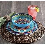 18 Piece Melamine Dinnerware Set Global Mosaic Multicolor