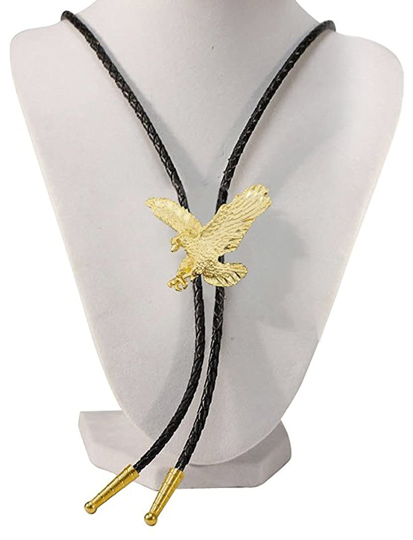Gold Tone Eagle Western Bolo Tie