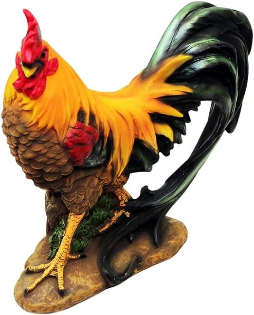 1Plus poliresina figuras Jardín Figura de gallo, pintado a mano ...